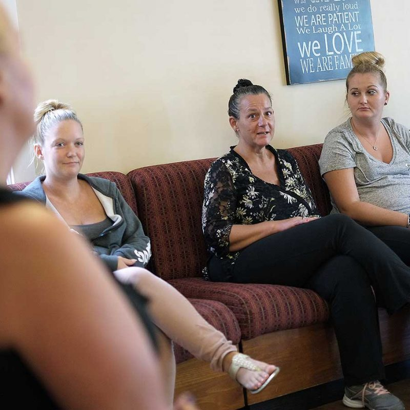 woman in recovery program talking