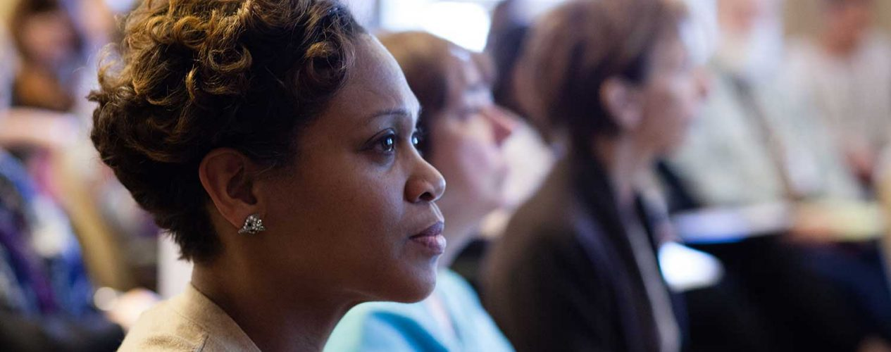 Woman at a Center for Professional Development workshop